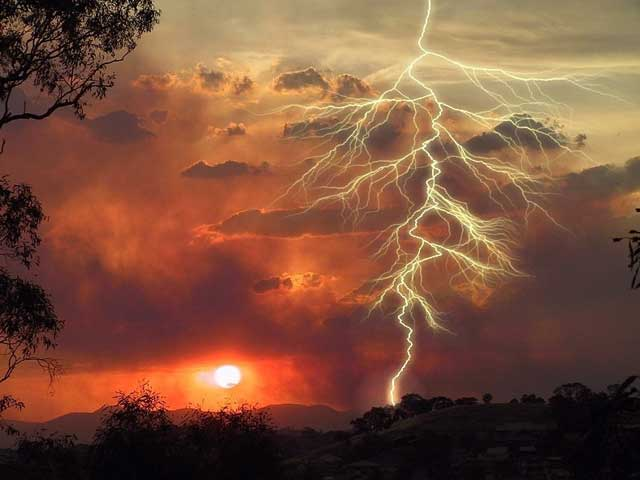 Sunset Lightning Jigsaw Puzzle