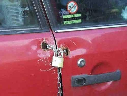 redneck door lock