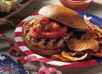 Cheese Stuffed Turkey Burgers