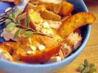 Sauteed Chicken with Brandied Fruit and Almonds