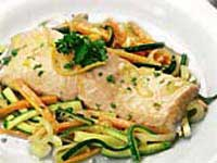 Orange Poached Salmon with Vegetables